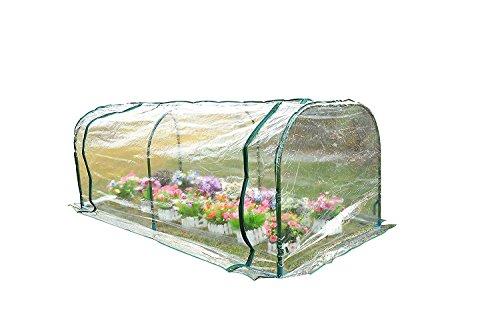 HOMCOM Outsunny Gewächshaus, Treibhaus mit Tür, Frühbeet, Pflanzenhaus, Pflanzenaufzucht, Stahl PVC, 200 x 100 x 80 cm