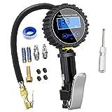 Nynel Numérique Manomètre Pneu 250 PSI,Haute Précis Digital Jauge de Pression de Pneus avec Pistolet Gonflage pour La Voiture Moto Vélos, 2 Piles AAA, écran LCD