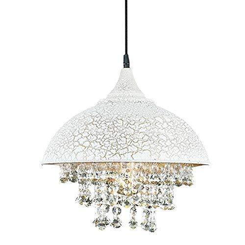 ZAKRLYB Luces colgantes de cristal de época moderna Iluminación industrial Lámparas de techo Lámparas colgantes Tranditional Lámpara colgante de loft campestre E27 Lámparas de iluminación industrial