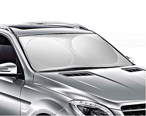 FY Windshield Sun Shade Foldable Sunshade for car -Windshield Blocks UV Rays Sun Visor Protector,Keep Your Vehicle Cool ,Easy to Use,Universal Fit for Most Car SUV (59 x 27 inches)