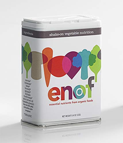 ENOF Organic Veggie Powder Supplement for Kids - Made from Tomatoes, Shiitake Mushrooms, Spinach, Beets, Carrots and Broccoli - Sprinkle on Food for Picky Eaters - Gluten-Free & No GMOs (6 Month)