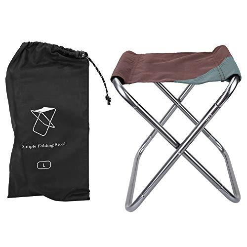 Oxford Stoff Klappstuhl, tragbarer Hocker für Outdoor Camping Wandern Jagd Wandern Angeln Reisen BBQ Picknick (Color : Coffee)