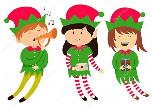 Puzzle 1000 piezas Elf Clip Art Christmas Series 56 Pintura decorativa puzzle 1000 piezas animales educativo divertido juego familiar para niños adultos Rompecabezas educativo50x75cm(20x30inch)