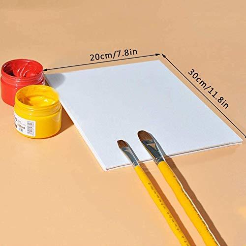 SOWLFE - Lavagna per pittura ad olio, spessore 3 mm, portatile, per pittura ad acquerello fai da te, 10 pezzi, 7.87 * 11.81in
