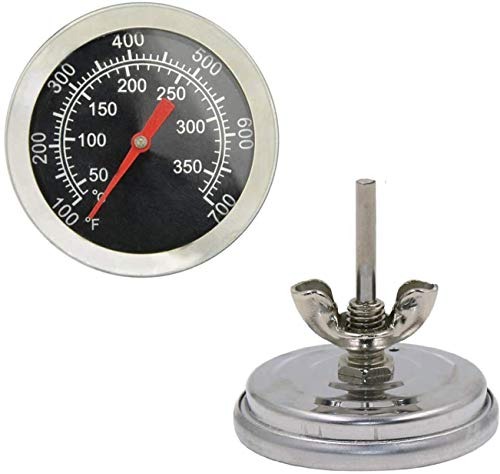 Grill Thermometer Temperature Gauge Heat Indicator Replacement for Charbroil, Chargriller, Jenn-Air, Perfect Flame, King Griller, Dyna-glo Gas Grills, 2 inch Stainless Steel BBQ Temp Gauge.