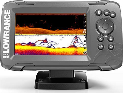 HOOK2 5 - 5-inch Fish Finder with SplitShot Transducer and US Inland Lake Maps Installed