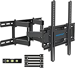 MOUNTUP TV Wall Mounts - Full Motion TV Wall Mount for 26-55 Inch Flat Screens and Curved TVs up to 88 LBS, Wall Mount TV Bracket with Dual Swivel Articulating Arms, Max VESA 400x400mm MU0010