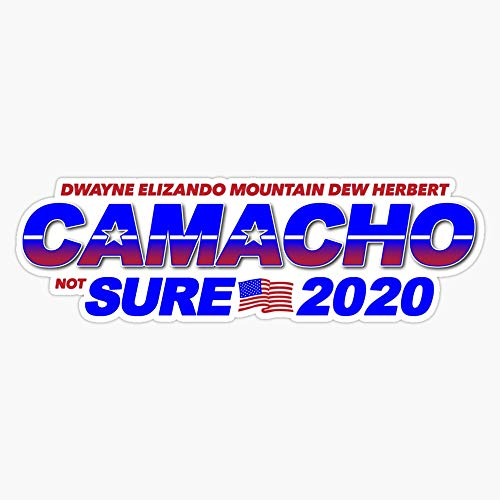"""TCT Trading Camacho/not Sure - 2020 for Presidential - Idiocracy Party Sticker Vinyl Stickers Waterproof Decal Car, Laptop, Bumper Stickers 5"""""""