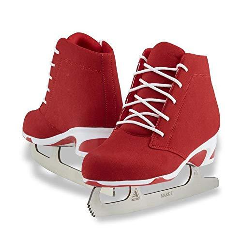 Jackson Ultima Softec Diva Red Women's Figure Ice Skates - Womens Size 4