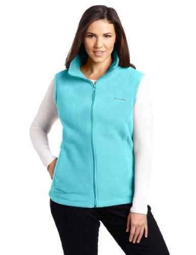 Columbia Women's Benton Springs Soft Fleece Vest, Geyser, Large