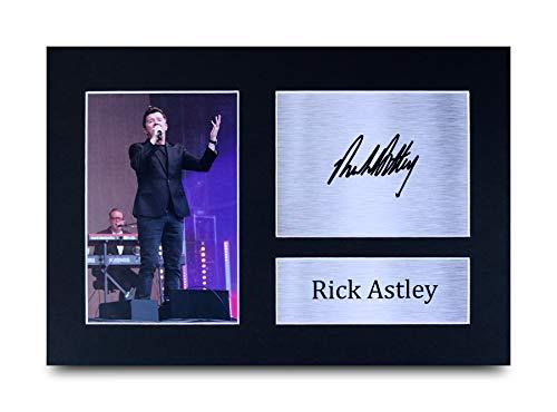 HWC Trading Rick Astley A4 Sin Marco Regalo De Visualización De Fotos De Impresión De Imagen Impresa Autógrafo Firmado por Aficionados A La Música