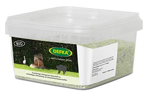 DEFKA 1,0 kg Zuverlässiger biologischer Naturstoff zur nachhaltigen Vermeidung von Katzenhinterlassenschaften - Katzenabwehr - Katzenschreck, ungekürzte Weitergabe der MwSt-Reduktion