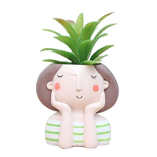 Princess Planter Succulent Plant Pot Fairy Tale Flowerpot Cute Girl Flower Planter Flowerpot, Creative Design Lovely Little Princess Home Garden Bonsai Pots