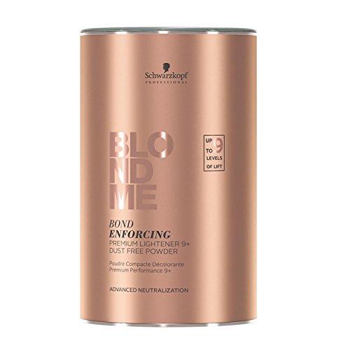 Schwarzkopf BlondMe Premium Lightener 9+ Dust Free Powder Bleach 450 grams, Schwarzkopf BlondMe Premium Developer 12% / 40 Volume 1 Liter, M Hair Designs Piranha Clips (Bundle - 3 items)