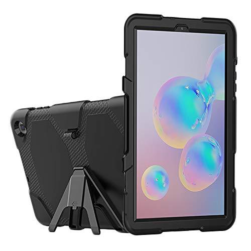 GHFPCASE para For la Caja Protectora de la PC Colorida Silicio Samsung Galaxy Tab S6 Lite P610 a Prueba de Golpes con el Soporte y la Ranura de la Pluma (Color : Black)