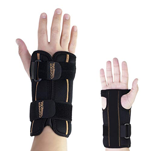 Copper Fit Rapid Relief Adjustable Wrist Brace With Ice Pack or Heat Therapy