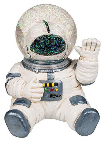 Bada Bing Spardose Astronaut Weltraumfahrer Mit GlitterKugel Helm Ca. 15 x 12 cm Kinderspardose Sparschwein Zum Sparen Geschenk Junge Geburtstag Weltraum Fan 36