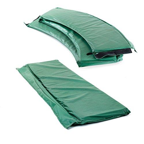 Ampel 24 - Bordo di Protezione Deluxe per Tappeto Elastico Ovale/Doppio Spessore di ca. 35 mm/per trampolini di 250 x 370 cm/Verde
