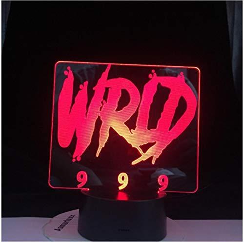 JUICE WRLD 999 CRY BABY NO VANITY GET CAKE DIE JUNGE LIEBE Alle Design SKU 3D LED Lampe JEDER ALLES Dropshipping 7 Farbe keine Fernbedienung