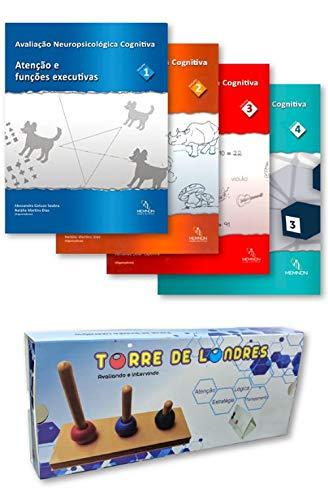 Avaliação Neuropsicologica Cognitiva 4 Volumes + Torre De Londres - Kit
