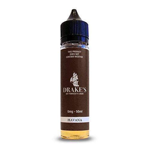 Drake`s E-Liquid Havana Short Fill 50/50, natürlich extrahiertes Tabakliquid, 50 ml