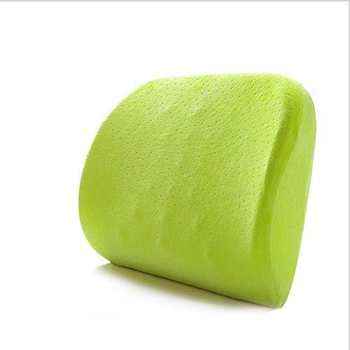 XIAMIMI Antiscivolo Cuscino Memory Foam, Regolabile Confortevole Pad Car Seat, Adulto Car Seat Booster Cuscini per Office Home Auto,Verde