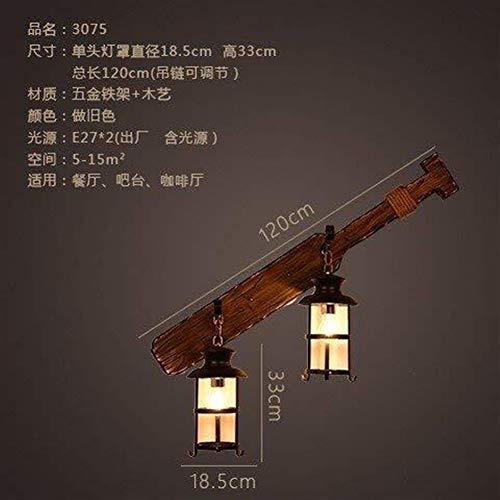 Zhenhe Pared personalizado y elegante sala de estar Dormitorio restaurante de pared de luz estilo industrial Loft Café barra de madera barco de madera, luces de pared del corredor vial Estudio Hotel V