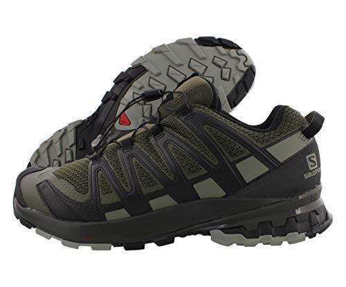 Salomon XA Pro 3D V8, Zapatillas De Trail Running Y Sanderismo Versión Màs Ligera Hombre, Color: Marrón (Grape Leaf/Peat/Shadow), 43 1/3 EU