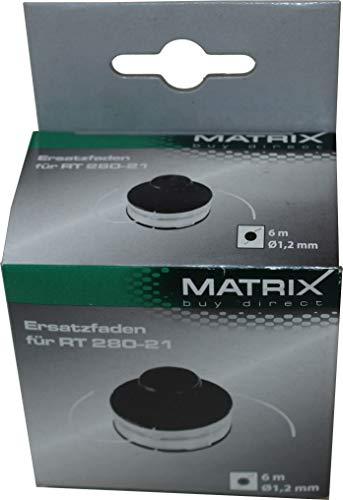 Matrix Ersatzteil Fadenspule komplett für Rasentrimmer RT280-21 6m 1,2mm