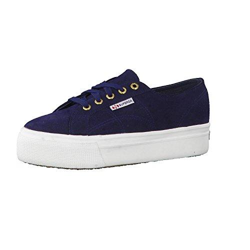 SUPERGA 2790-SUEW, Sneaker Donna, Blu (Blue 516), 38 EU