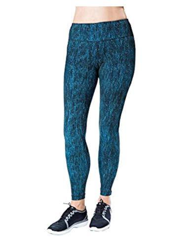 Kirkland Signature Ladies Printed Active Legging, Blue Bubble Dot, Small