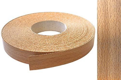 Kantenumleimer Melamin 22mm x 10m mit Schmelzkleber in Buche gedämpft Dekor