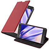 Cadorabo Book Case Compatible with Sony Xperia XA Ultra in Apple RED - with Magnetic Closure, Stand Function and Card Slot - Wallet Etui Cover Pouch PU Leather Flip