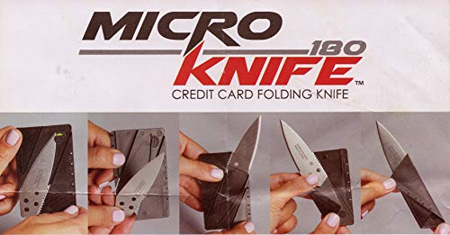 Micro Knife 2pk Folds As Credit Card Fits in Wallet Sharp Knife As Seen on Tv