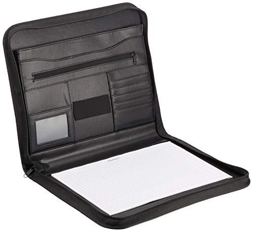 Alassio 30142 - Cartella portablocco in finta pelle, formato A4, colore: Nero 36 x 29 x 5 cm