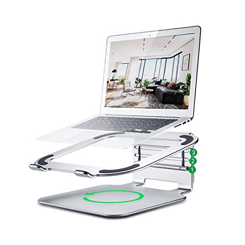 Buy Cheap Laptop Stand, Aluminum Ergonomic Ventilated Laptop Riser, 360°Rotating Adjustable Noteboo...