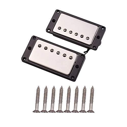 Recolección de la guitarra 2 piezas de sellado Humbucker Pastillas de doble bobina for LP guitarra eléctrica con los tornillos de montaje BlackAlloy Marco Negro Recogida de contactos micrófono piezoel