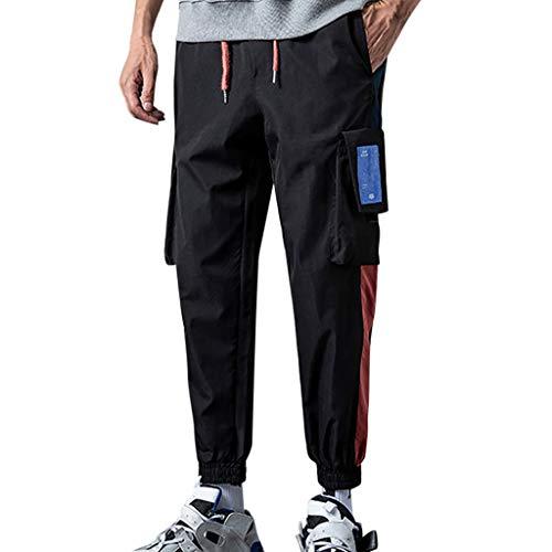 manadlian Pantalon de Travail Homme Cargo Chino Pantalon à Cheville Pants de Survêtement Grande Taille Sweat Pants en Multi-Poche Trouser Automne 2019