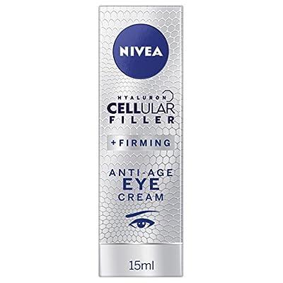 NIVEA Hyaluron Cellular Filler Anti-Age Eye Cream (15 ml), Moisturising Anti Ageing Cream for Eye Area, Powerful Hyaluronic Acid Eye Cream for Wrinkles and Dark Circles from Beiersdorf Uk Ltd