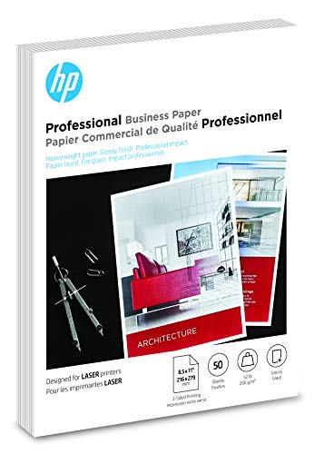 HP Brochure Paper | Glossy Professional Laser | 8.5x11 | 50 Sheets