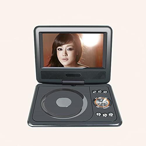 YICHEN Reproductor de DVD portátil de 7.8' con batería Recargable incorporada Tarjeta SD/USB AV IN/out Pantalla giratoria Reproducción Directa admitida en formatos AVI/RMVB / MP3 / JPEG