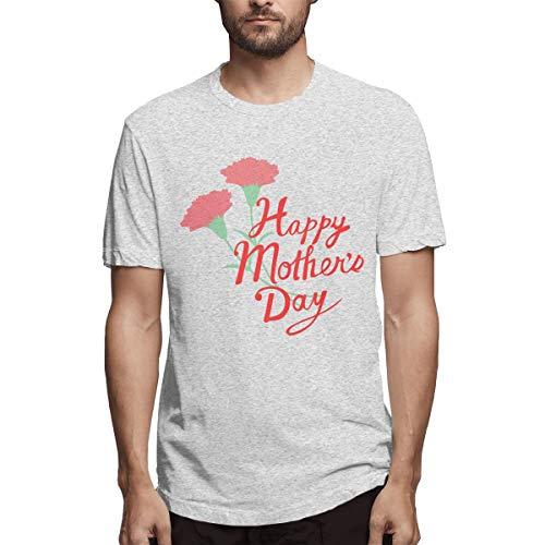 Shirt Muttertag Kalligraphie Glücklicher Muttertag Calligra Ebe Herren Baumwolle lässig T-Shirt