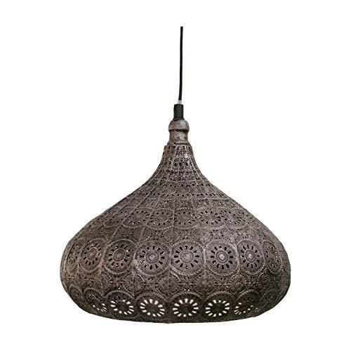 EGLO MELILLA Hängeleuchte, Stahl, 60 W, silber-antik