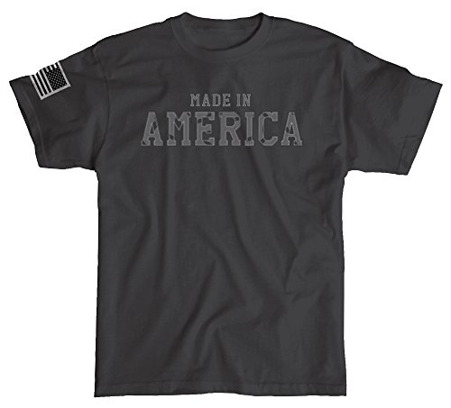 Made in America Shirt with Sleeve Flag - Black - Large