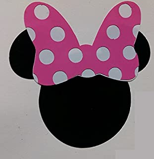 Vinyl Disney Mickey Mouse Head Die Cut Stickers Silver 100ct 1 Inch