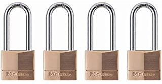 Master Lock 140QLH Solid Lock, 4 Pack, Brass, Silver, 4 Padlock