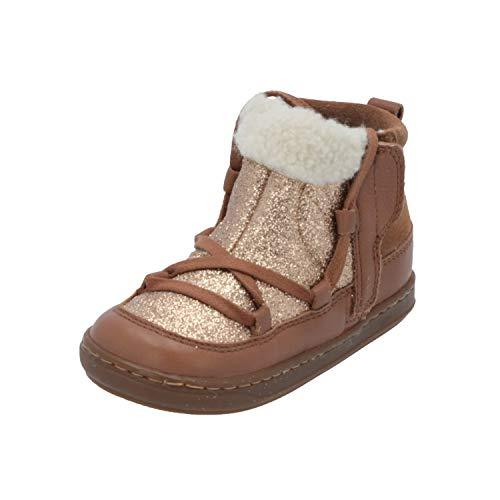 Shoo Pom Bouba Glagla Kinder Mädchen Stiefel Gold Schnür-Stiefelette Winter, Größe:EUR 27