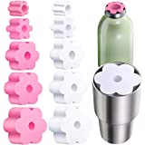 10 Pieces Cup Turner Foam Cup Turner Inserts Accessories Cup Tumbler Foam Insert Cup Spinner Sponge for Cups Water Bottles (Pink, White, 1.57/2.44/2.83/3.18/3.74 Inch Diameter)