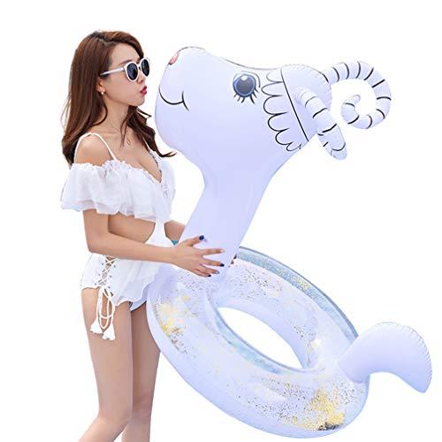 PRETYZOOM Anillo de Natación Flotador de Piscina Flotador de Piscina Inflable Paseo en Tubo de Natación de Ovejas para Adultos