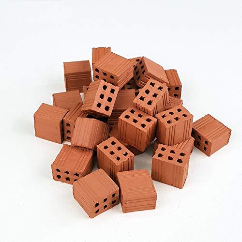 Ladrillos en Miniatura. Ladrillo hueco doble rojo 1/2 (15 Mm.) (50.)